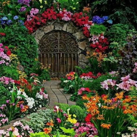Pretty Flower Garden Beautiful Gardens Garden Gates And Arbors