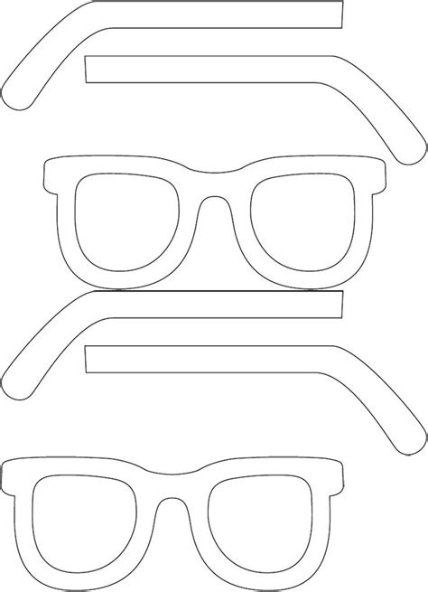 Cutout Tip Sunglasses 5 best images of printable eyeglasses template glasses