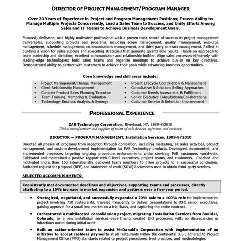 sle of executive resume summary executive summary resume sles executive summary resume