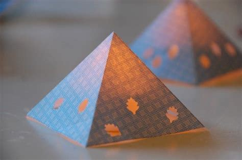 pyramid craft project diy paper pyramid lanterns crafts paper lanterns and