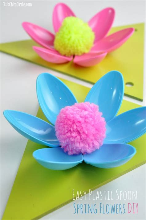 How To Make A Simple Flower Out Of Paper - best 25 plastic spoons ideas on diy mirror