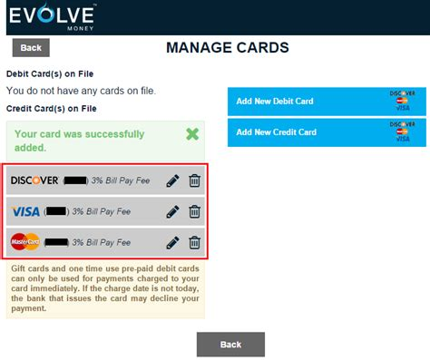 Add Money To Visa Gift Card - evolve money update pay all bills with visa mastercard and discover credit cards 3