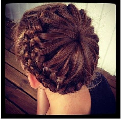 hairstyles for double crown for women starburst crown hairstyle braid a color guard girl from a