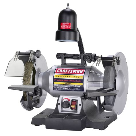 craftsman variable speed bench grinder craftsman variable speed 8 quot bench grinder 21162 shop
