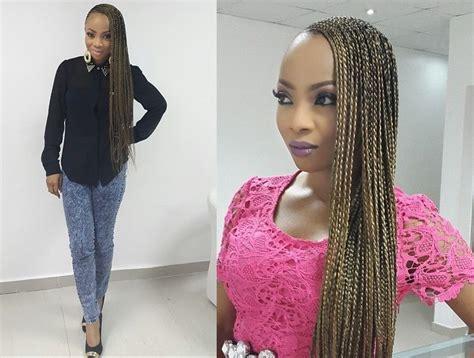 pictures of 2014 nigeria twist toke makinwa debuts super long braids bellanaija