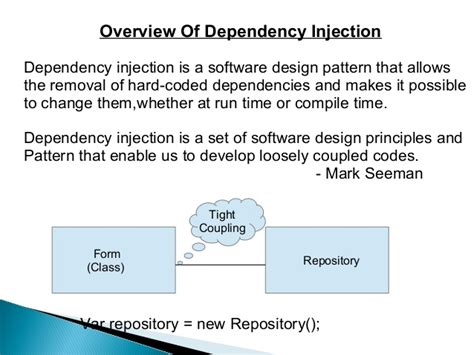 unity dependency injection setter dependency injection with unity container
