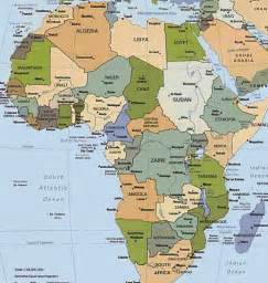 Africa Map Capitals by Map Of Africa With Countries And Capitals Labeled