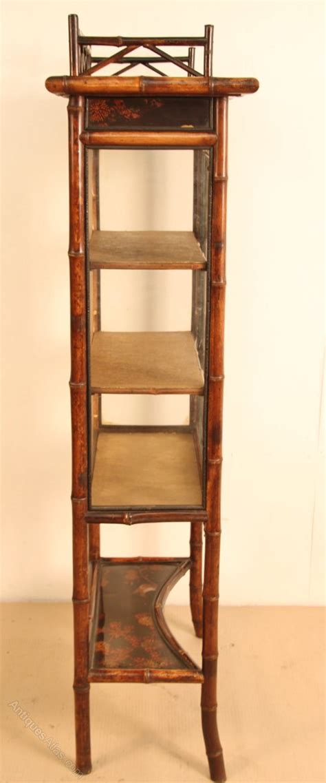bamboo cabinet chinese lacquer display cupboard antiques victorian bamboo display cabinet antiques atlas