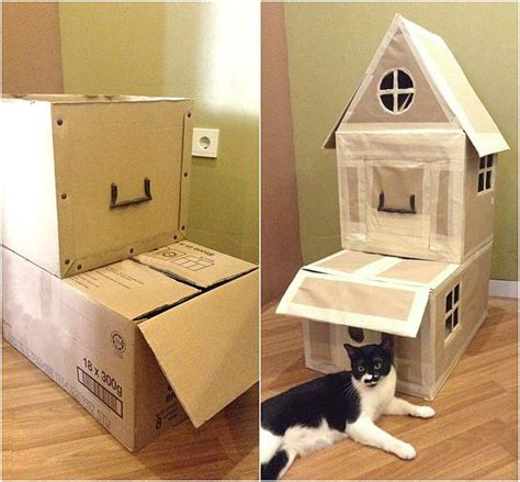 video cara membuat rumah kucing dari kardus 11 best children activity aktifitas anak images on