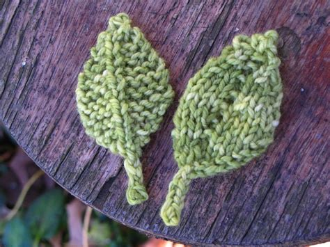 Leaf Pattern For Knitting | knitted leaf patterns natural suburbia
