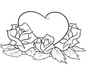 imagenes de rosas y corazones para colorear el mejor blog para chicas 10 dibujos de rosas para colorear