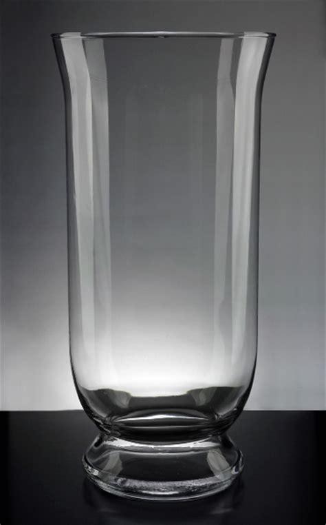 hurricane glass vase clear glass hurricane vase 16in