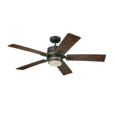 zephyr ceiling fan illumine zephyr 54 in indoor vintage steel ceiling fan