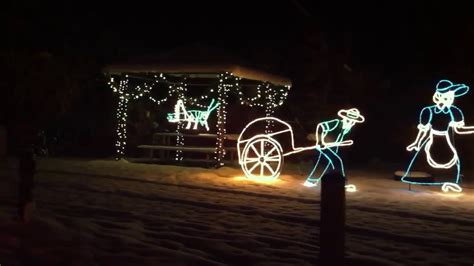christmas light show at willard bay utah youtube
