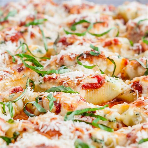 Stuffed Shells Recipe With Cottage Cheese by Cheese And Spinach Stuffed Jumbo Shells Jo Cooks