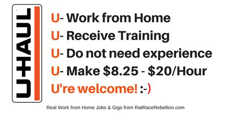 u haul is hiring again no exp necessary work from home