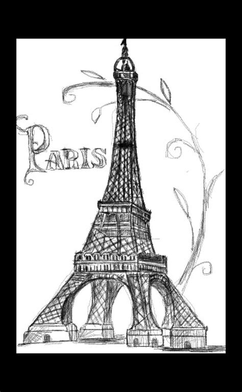 Eiffel Tower Drawing | Art | Pinterest | Eiffel tower