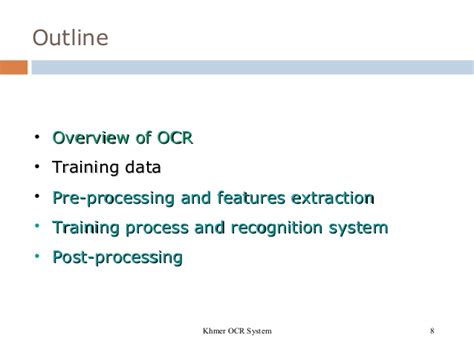 pattern recognition course outline khmer ocr using gfd seminar day