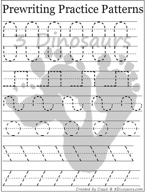 pattern practice worksheet common worksheets 187 prewriting practice preschool and