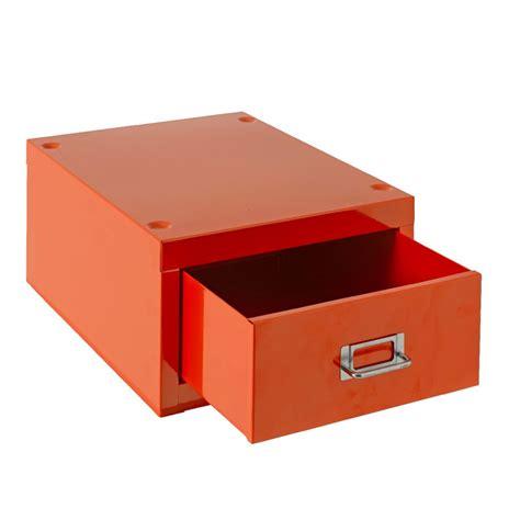 Desktop Filing Cabinet New Spencer Desktop 1 Drawer Office Filing Storage Cabinet A4 Orange Ebay