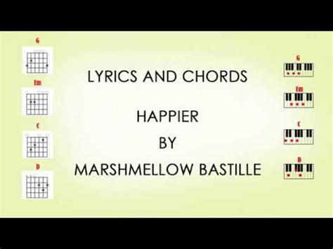 marshmello ukulele chords marshmello bastille happier lyrics and chords youtube