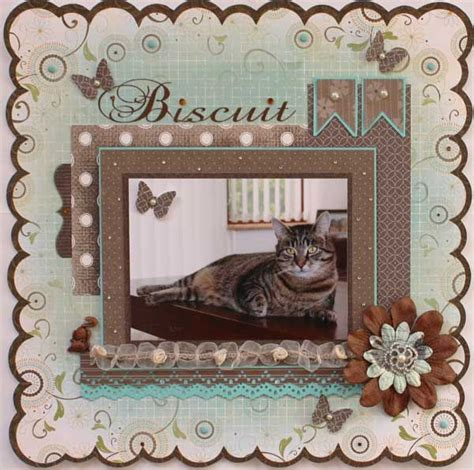scrapbook layout holder biscuit single photo layout pets scrapbooking pages