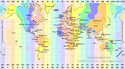 world time zones map time zones of the world fgi
