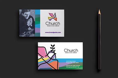 church business card templates free modern church business card template for photoshop