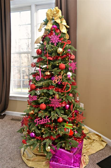 show me thin decorated trees glitter glam tree latta creations