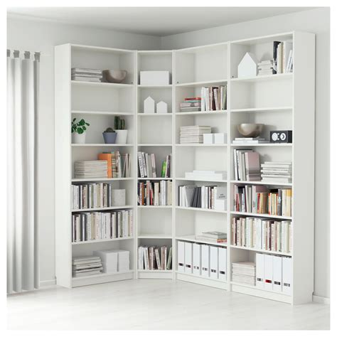 bookshelf interesting design corner bookshelf white