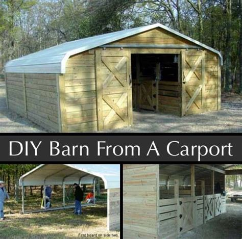 How To Make A Car Port by Http Homestead And Survival How To Make A Barn Out