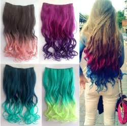 colorful extensions ombre clip hair extensions for are aweseome gifts