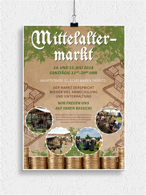 Flyer Design Vorlagen Psd Flyer Vorlagen F 252 R Mittelaltermarkt Und Ritterfest Psd Tutorials De Shop