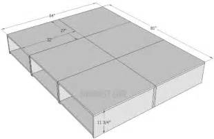 queen size platform storage bed plans sawdust 174