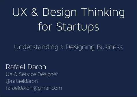 Design Thinking For Startups | ux and design thinking for startups