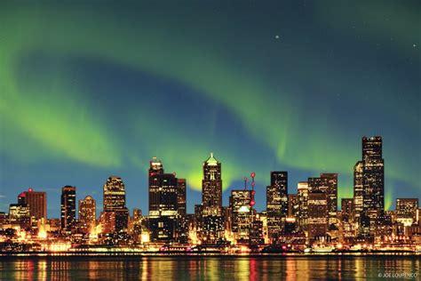 light seattle panoramio photo of seattle northern lights
