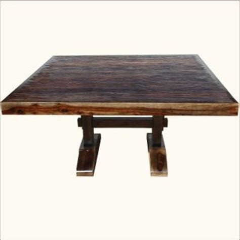 Square Pedestal Dining Table For 8 60 Square Rustic Dining Room Table For 8 Solid Wood Trestle Pedestal Furniture Kitchens