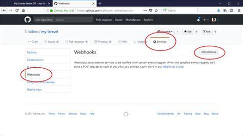 github webhooks tutorial rapid web deployment for laravel with github linode and