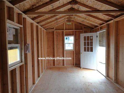 hickory sheds cabin shed plans
