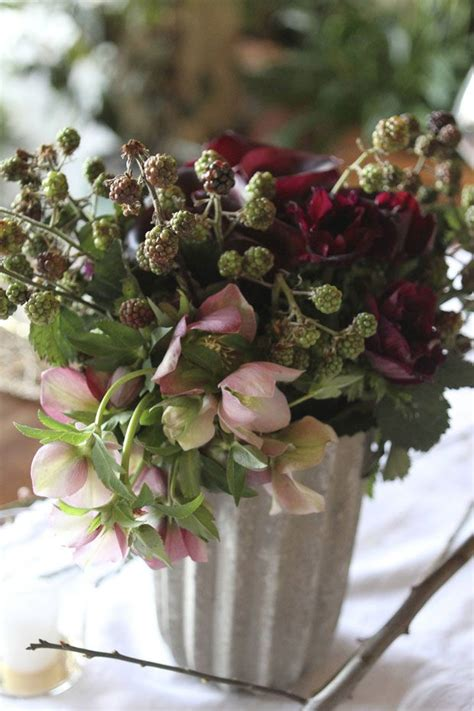 rustic winter arrangement flower pinterest