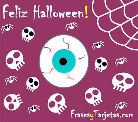 imagenes de feliz walloween tarjeta de halloween ojo y calavera frasesytarjetas com