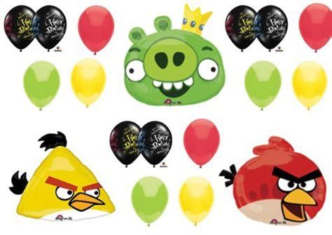 Baby Bird Balloon Green angry birds pig and yellow bird birthday
