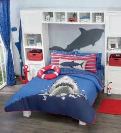 Red Comforter Sets Full New Boys Navy Blue Sea Shark Comforter Bedding Set