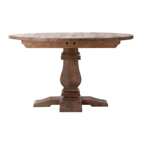 home decorators collection aldridge antique walnut wood home decorators collection aldridge 53 in round dining table in antique grey 1673100270 the
