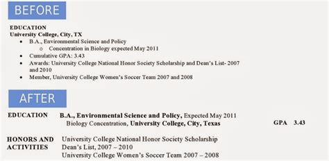 education section of resume judi fox blog jessica s before after resume remodel