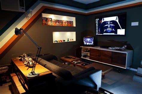 design apartment game console gaming area of a clean garage arcade garcade