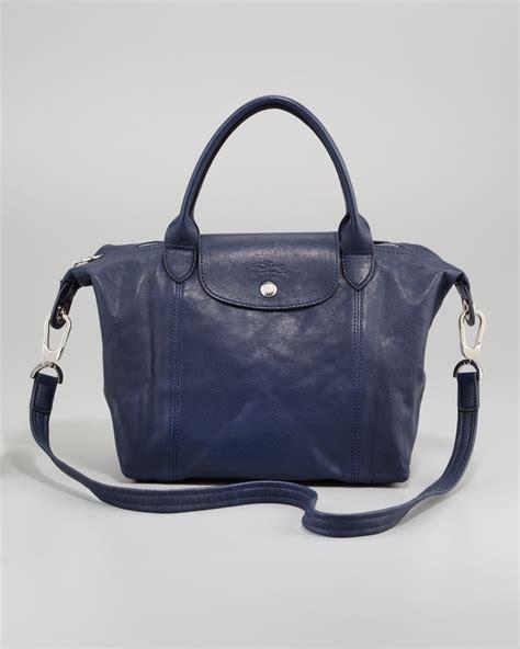 Longch Cuir Small 11 lyst longch le pliage cuir small handbag in blue