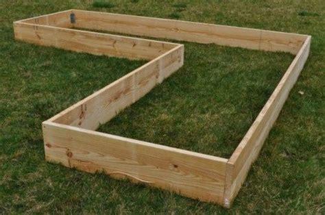 raised garden bed frame l shaped raised bed garden frame vegetable gardens
