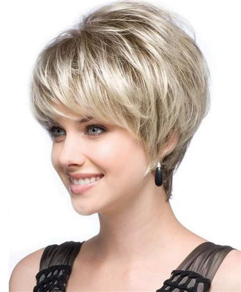 short haircut for thin face best and cute haircut for round faces and thin hair of