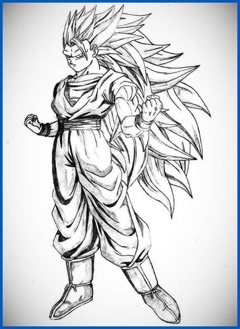 imagenes de goku fase 4 para dibujar dibujos para colorear de dragon ball z goku ssj4 archivos